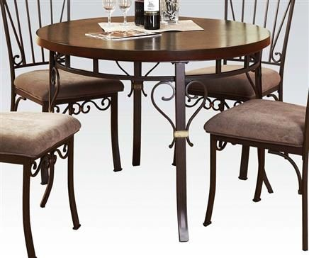 barry walnut wood metal dining table
