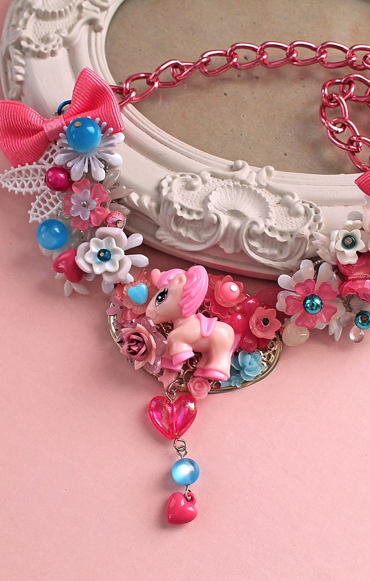 Kawaii decoden poney necklace, totally OOAK. Get 15% off with coupon code PIN15