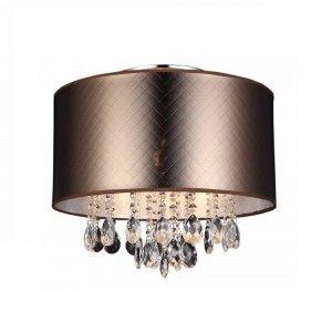 Lampa sufitowa MOTAN brąz plafon kryształki Italux MXM2047/3