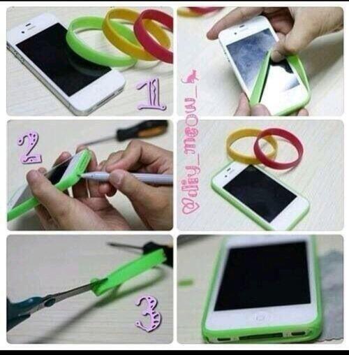 Turn a armband into a phone bumper case.
