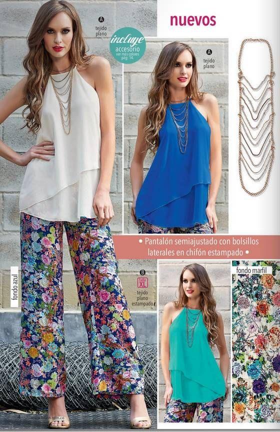Finas bluzas de gasa en color blanco, verde gade y azulino combinalas con tu palazo de moda