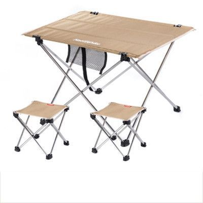 NH15Z012-S7 outdoor folding tables and chairs set Khaki small table 2*folding chair Outdoor table Fishing leisure chairs