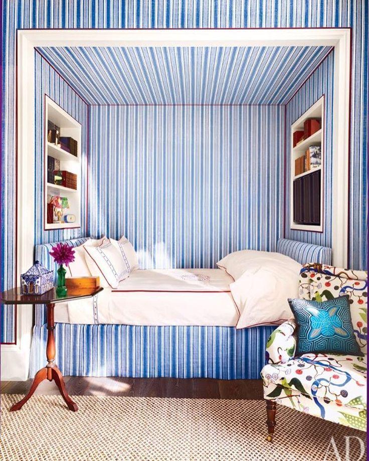 "Katie Ridder Inc. on Instagram: ""Stripes on stripes in Katie's daughter's room…"