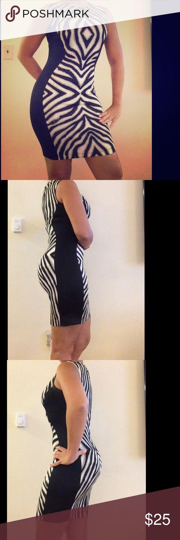 Bisou Bisou Zebra Print dress size (2) Accentuate your curves with this Bisou Bisou zebra print dress size S Bisou Bisou Dresses