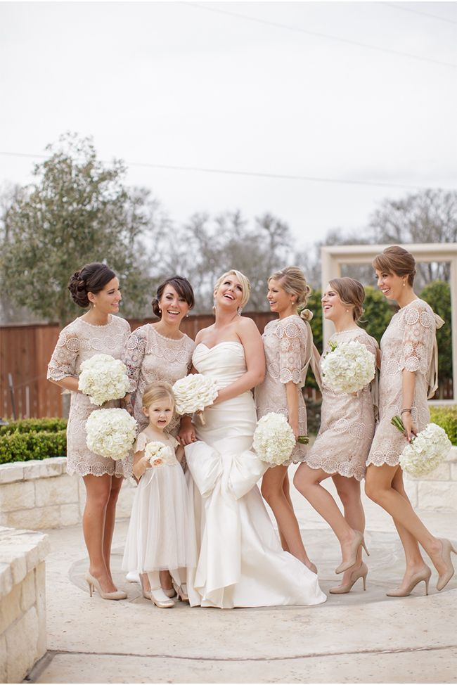 bridesmaids in the Agata Swing Dress from BHLDN