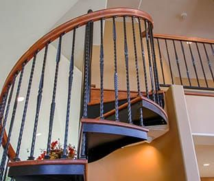Best Forged Iron Spiral Stair Product Options Paragon Stairs 400 x 300