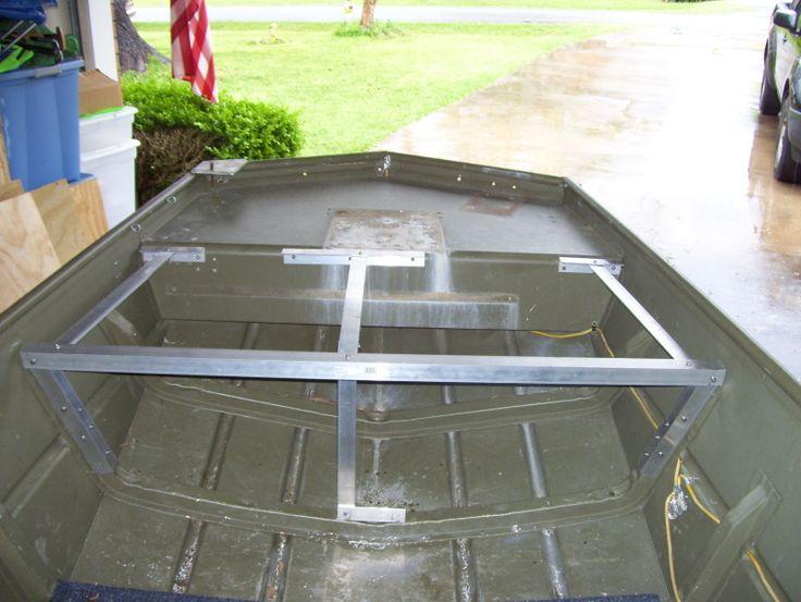jon boat deck plans   Name: frame done.jpgViews: 1563Size: 315.4 KB   Jon Boat   Pinterest ...