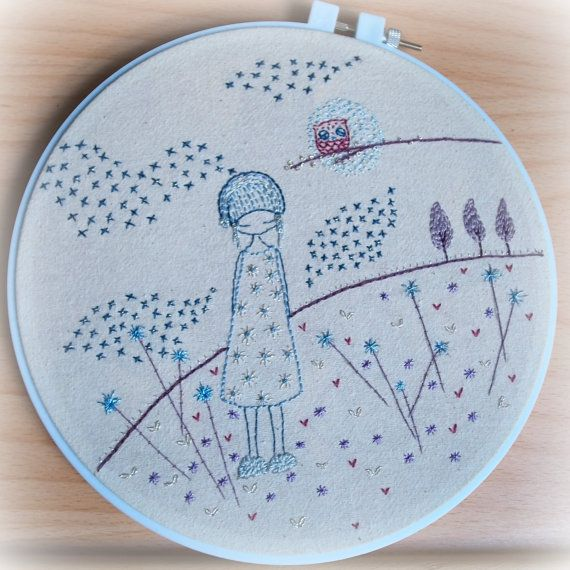 the somnambulist hand embroidery pattern PDF