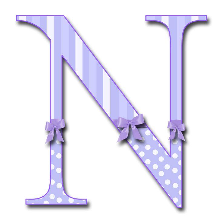 Purple Letter N