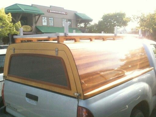 Pickup Topper with Marine Construction.