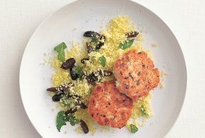Dijon Salmon Cakes With Couscous Recipe | Real Simple