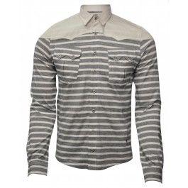BOLONGARO TREVOR WENLOCK SHIRT NAVY/BONE - Shirts - Menswear