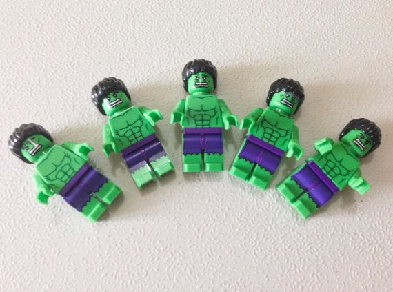 Sale 75% OFF 72.00 Now Only 18.00! Five Lego® HULK Minifigurine, Lego Party Favor Giveaways, Lego Party Avengers, Superhero Party Favors on Etsy, $18.00