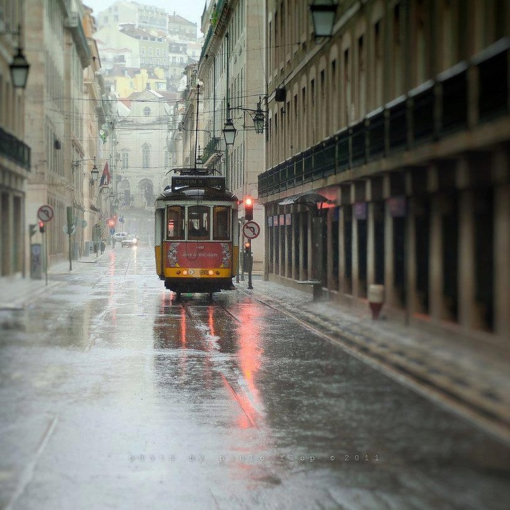 Our tram on a beautiful photo, before turning to Rossio square