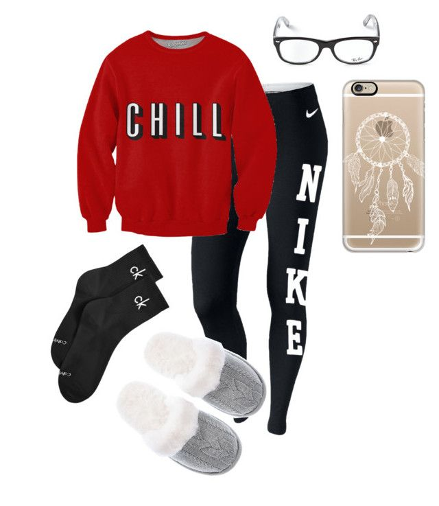 Outfit #885 by summer-vernon on Polyvore featuring NIKE, Calvin Klein, Victoria's Secret, Casetify and Ray-Ban