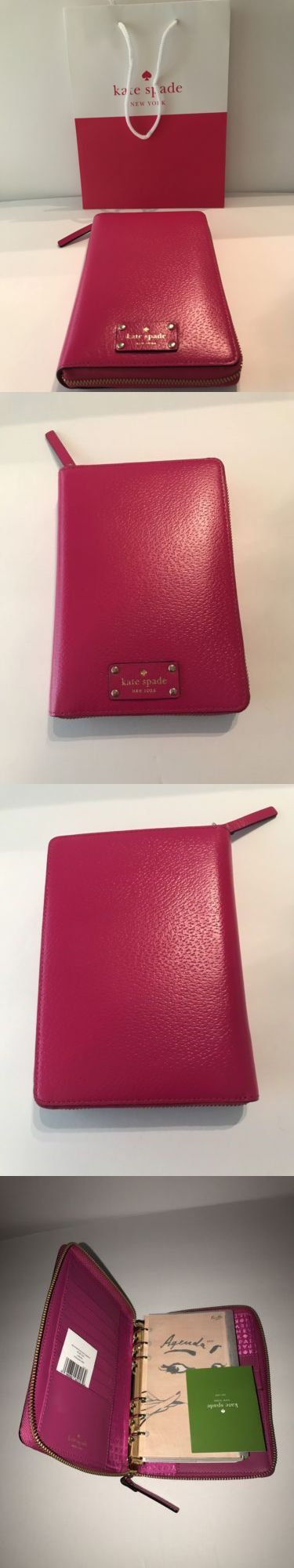 Organizers and Day Planners 15735: Nwt Kate Spade Sweetheart Pink Wellesley Grove Street 2017 Planner Agenda -> BUY IT NOW ONLY: $69 on eBay!