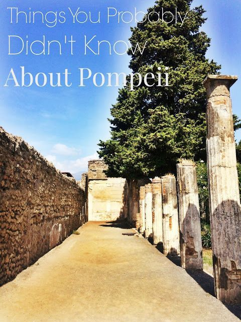 Things You Probably Didn't Know About Pompeii There are so many fascinating things to learn about Pompeii! Here are some random facts you probably didn't know. Please tell me about any others we can add to the list! #Pompeii #Italy