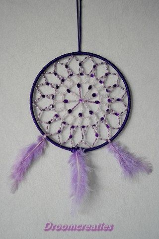 Mandala dreamcatcher no. 2 with beads by Droomcreaties on Etsy, €26.95