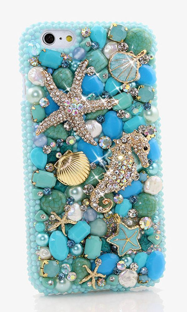 Bling iPhone 6s plus case with Turquoise Ocean design. We can design this 3D luxury stylist phone case for any phone/device. #Blingcase #iPhone6sPlus #iPhone6s http://luxaddiction.com/collections/3d-designs/products/turquoise-ocean-design-style-819