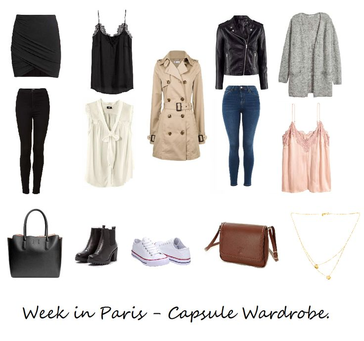 Inspiration for Week in Paris - Capsule Wardrobe by minimalisticgirl.pl