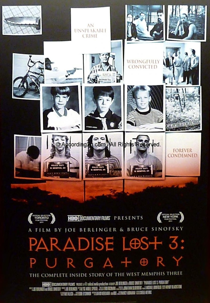 "Cartaz do documentário ""Paradise Lost 3: Purgatory""."