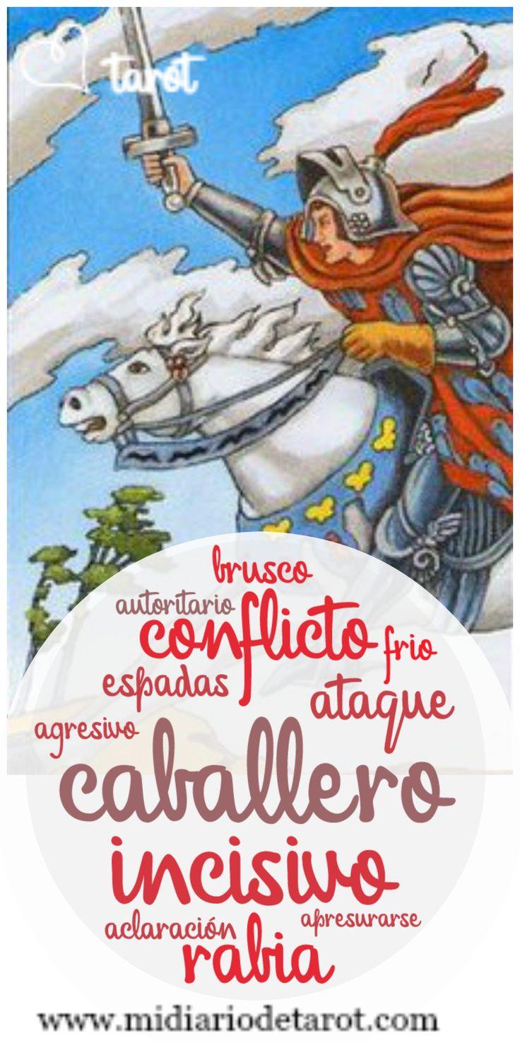 caballero de espadas. Aprender Tarot. Baraja Rider Waite, arcanos mayores y menores
