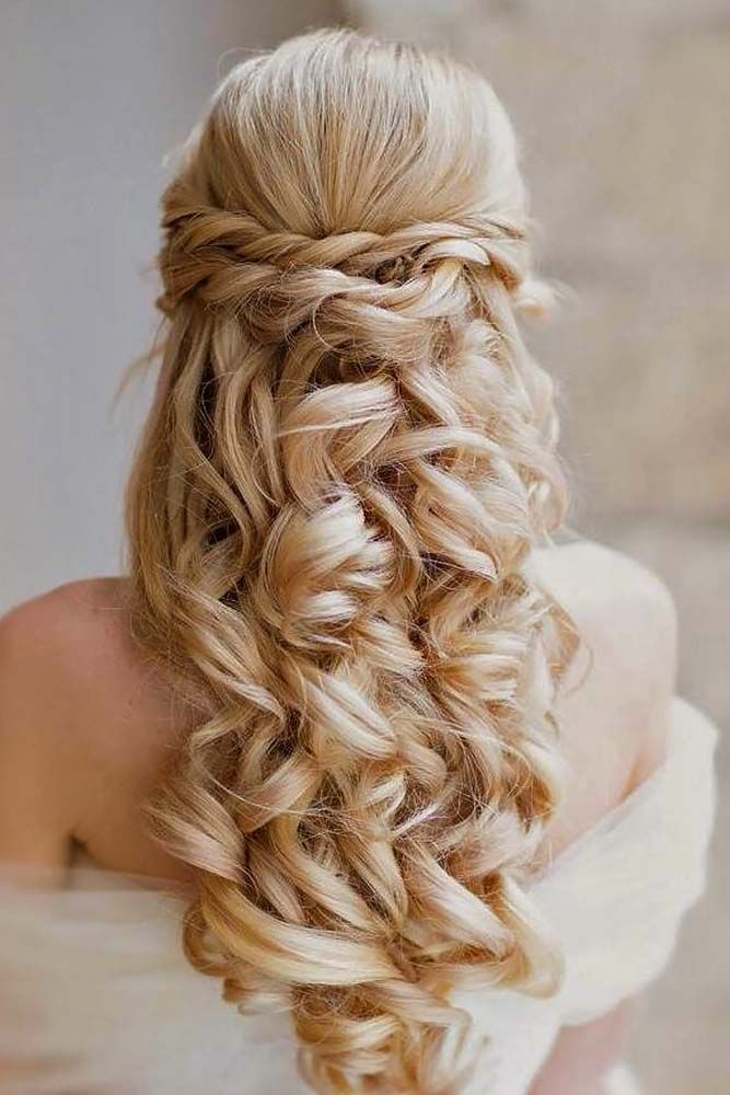 18 Creative And Unique Wedding Hairstyles For Long Hair: Awesome 18 Creative & Unique Wedding Hairstyles