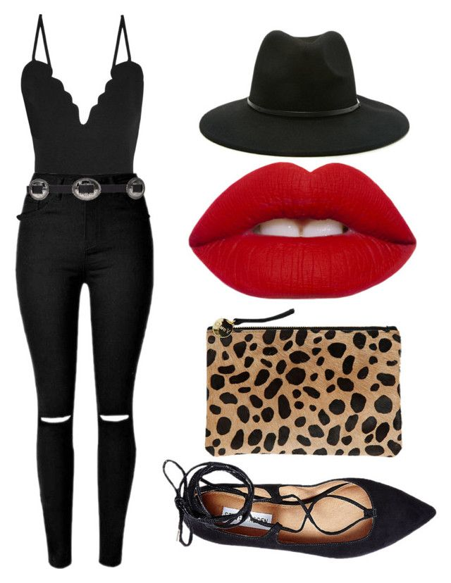 Untitled #75 by katelin-louise on Polyvore featuring polyvore, fashion, style, Carven, Steve Madden, Clare V., Forever 21, Lime Crime and clothing