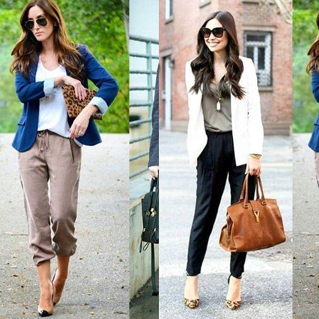 Dica de look do dia  Que tal juntar:  CALÇA JOGGING + BLUSA FLUIDA + BLAZER  O look fica confortável e super moderno.  Vale usar blusas mais sofisticadas, como em seda e tecidos nobres ou blusas fluidas em malha, podendo ou não serem estampadas. 🌟 www.oSegredoDoEstilo.com 🌟#lookdodia #tendências #roupas #moda #estilo #estilopessoal #osegredodoestilo #karolstahr #modafeminina