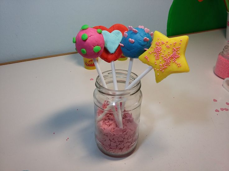 Play Doh Colorful Lollipops!