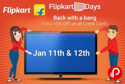 Flipkart TV Days is offering Upto Rs.25000 Exchange + Extra 10% off on credit cards on LED TVs.   http://www.paisebachaoindia.com/flipkart-tv-days-upto-rs-25000-exchange-extra-10-off-on-credit-cards-flipkart/