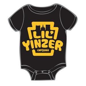 Commonwealth Press Pittsburgh Lil' Yinzer Onesie 12m