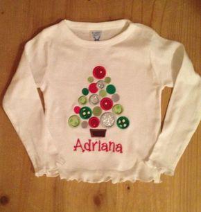 Árbol de Navidad camisa de lunares o Body de bebé