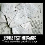 Text messages...passing notes