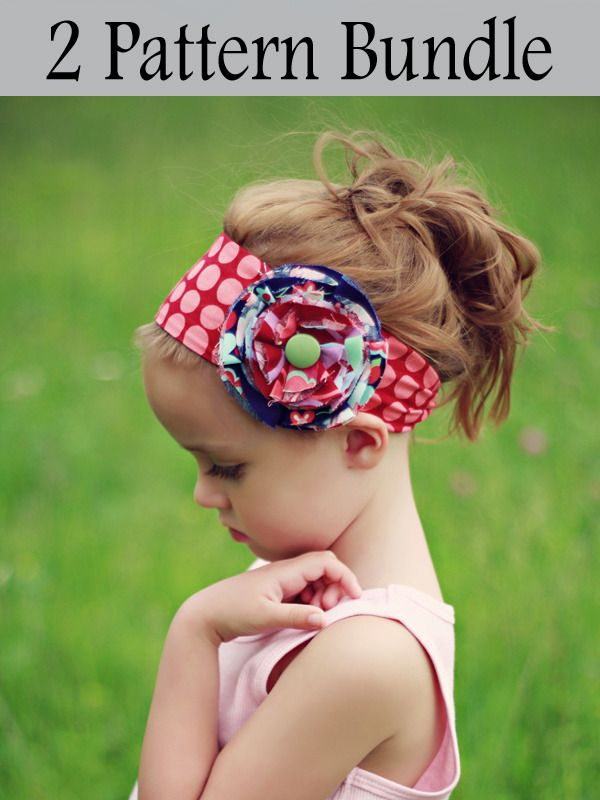 Pattern bundle with little girl hair accessories