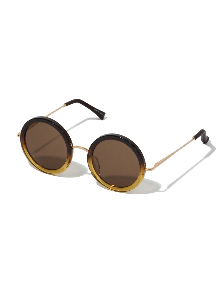 Linda Farrow Black and Gold Sunglasses | Meghan Markle ...