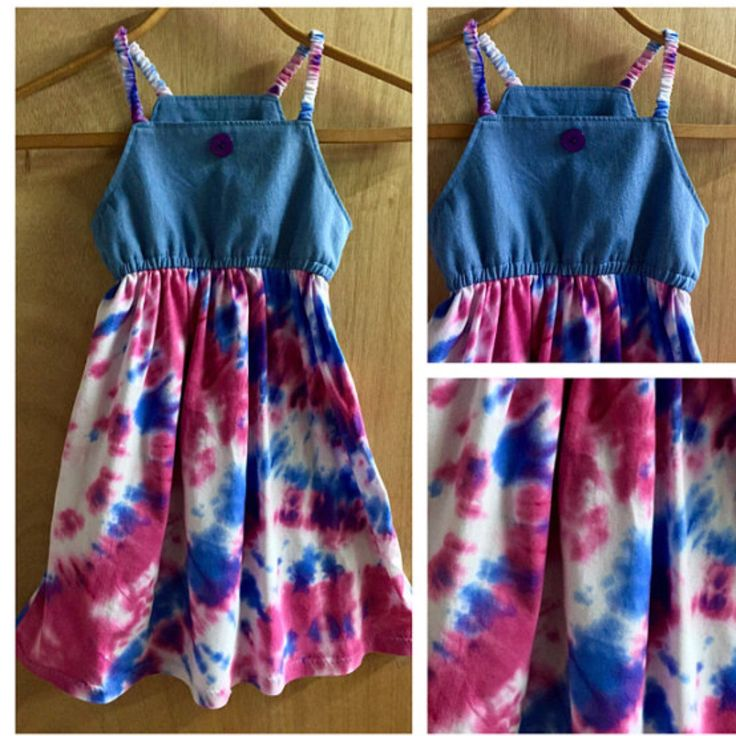 Simple and easy for summer, this Jersey Knit and Denim Dress is super cute!  Child size 6.