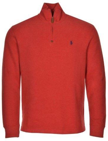 Polo Ralph Lauren Big and Tall French-Rib Mockneck Sweatshirt 2XB Red