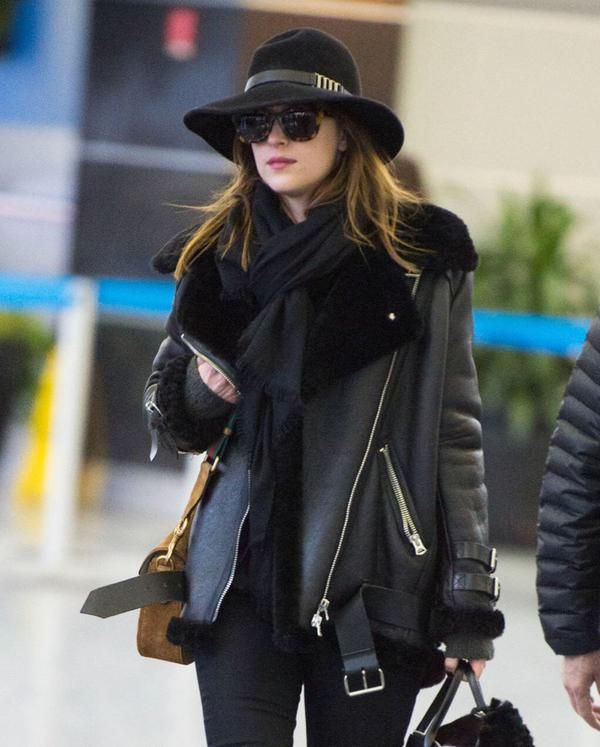 Dakota at JFK Airport Back to NYC!! #DakotaJohnson