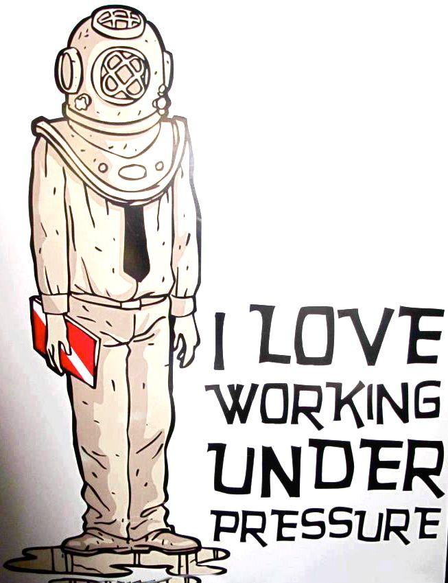 Diving helmet | I love working under pressure