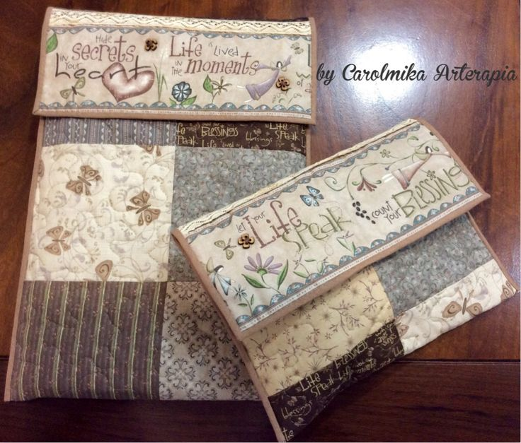 Patchwork Cases for Laptop & power adapter cable. By Carolmika Arterapia
