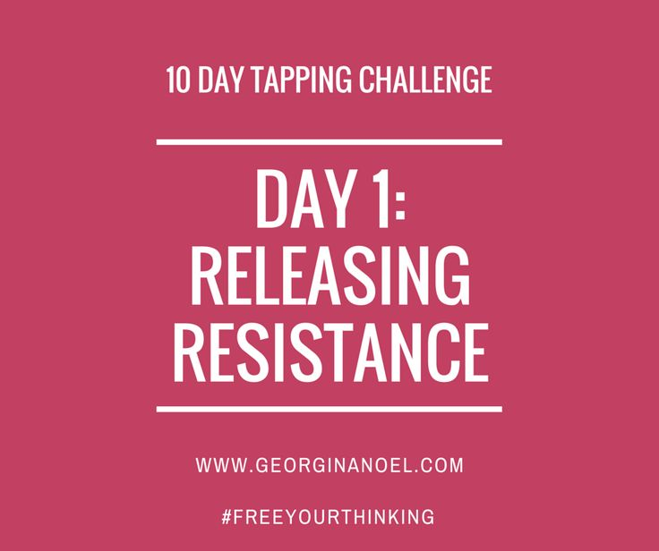 10 Days of EFT Tapping Scripts/videos to help you with limiting beliefs around Weight Loss.  http://www.georginanoel.com/10-day-tapping-challenge-weight-loss/