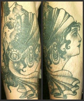 Tattoosday (A Tattoo Blog): Max's Spin on a Traditional Gypsy Tattoo