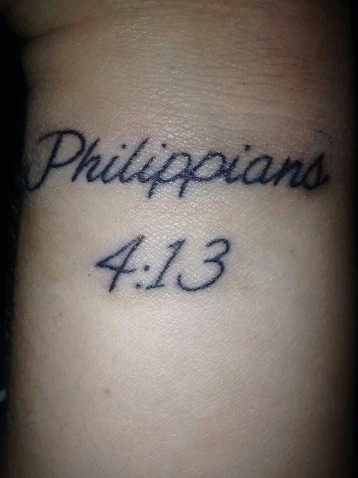 Me All Do Can Christ Tattoo Who Strengthens Through Things Arm I