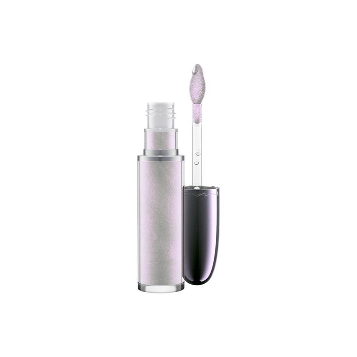 Grand Illusion Glossy Liquid Lipcolour in Broken Halo, a silver with multi-colour iridescence. Swipe on futuristic sheen with this exclusive holographic lip colour packed with iridescent pearls, then be transfixed by the refreshing cooling sensation that makes lips feel instantly fuller.
