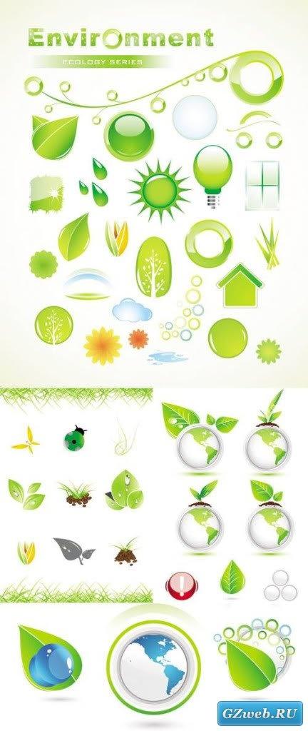 Иконки окружающая среда и экология