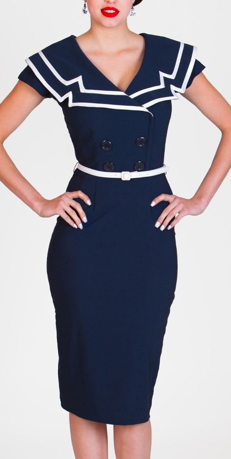 Look at this Navy & White Captain Dress - Women & Plus on #zulily today!