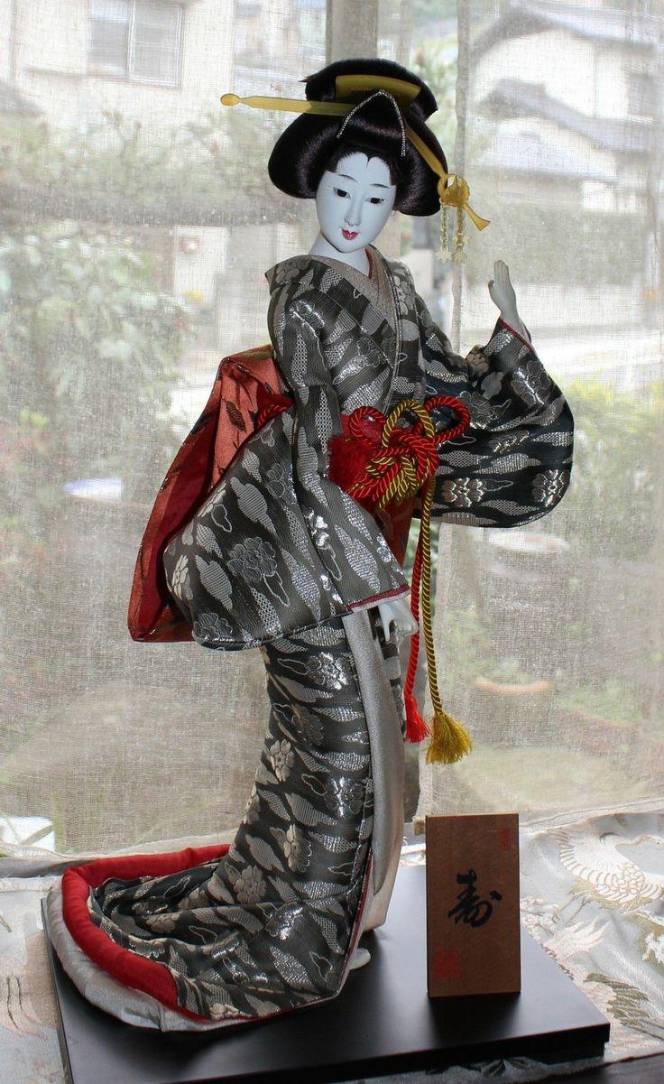 silk matted japaneese geisha dolls