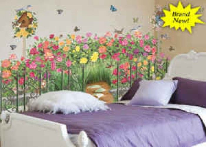 41 best images about wall paper murals and borders on for Mural flower