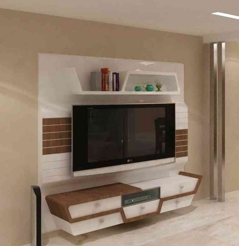 Recessed Panel Living Room Interior: Best 25+ Lcd Unit Design Ideas On Pinterest